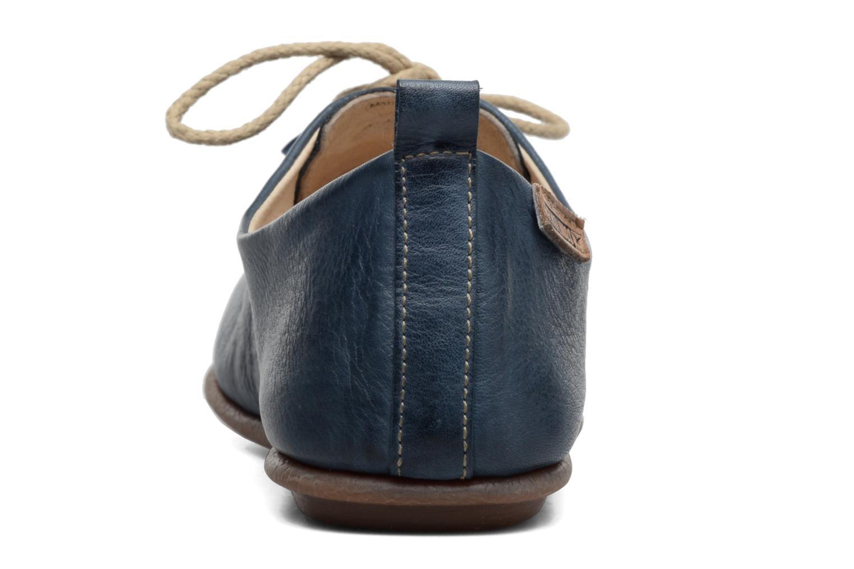 Zapatos con cordones Pikolinos Calabria 917-7123 Azul vista lateral derecha