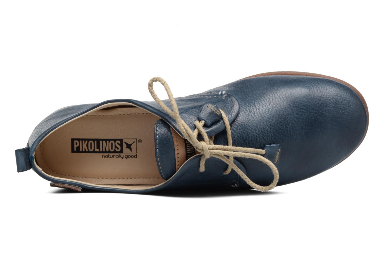 Zapatos con cordones Pikolinos Calabria 917-7123 Azul vista lateral izquierda