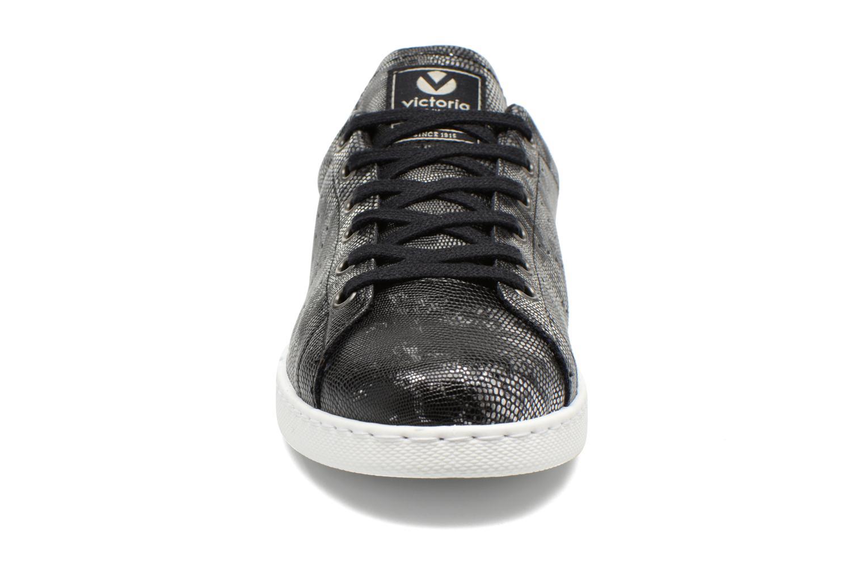 Baskets Victoria Deportivo Mantarraya PU Noir vue portées chaussures