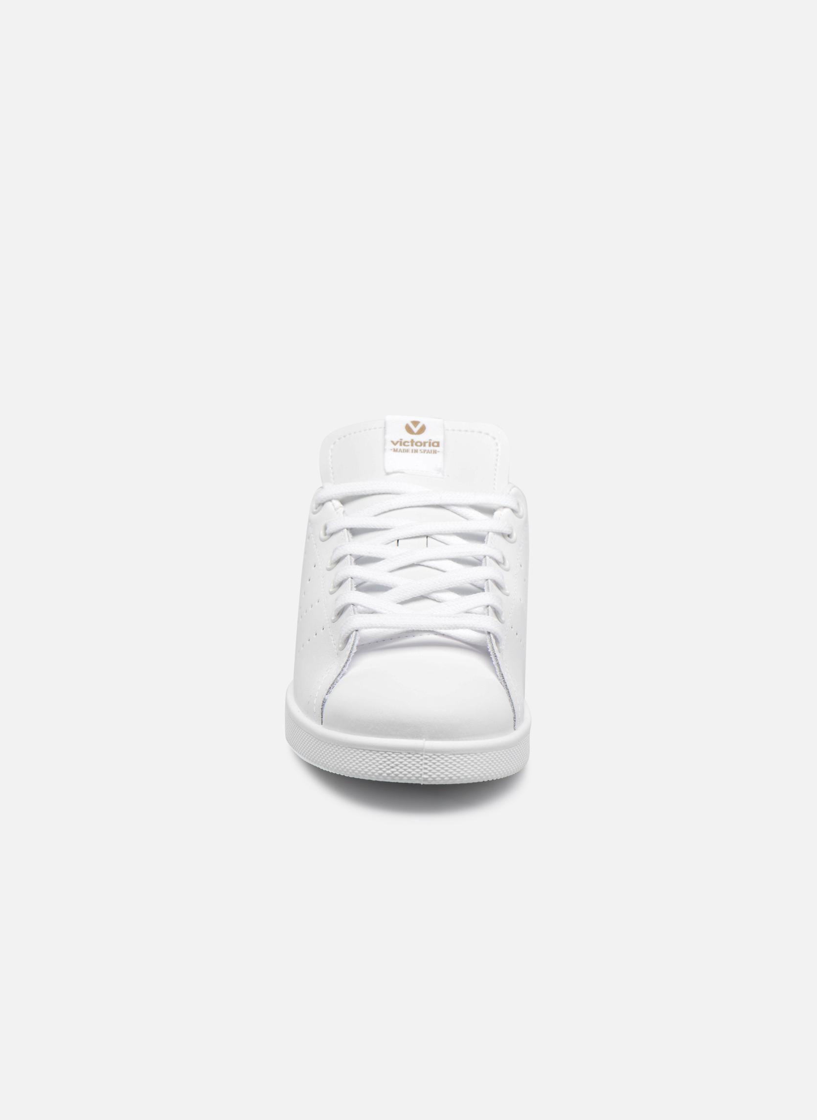 Baskets Victoria Deportivo Piel Rose vue portées chaussures