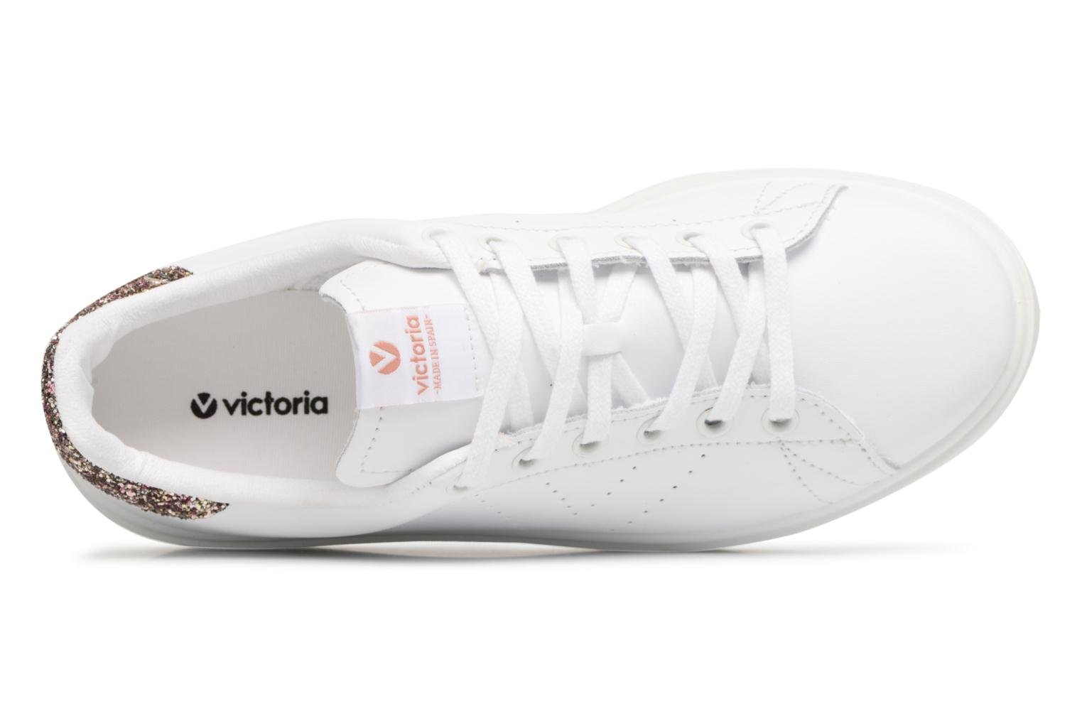 Trainers Victoria Deportivo Piel Pink view from the left
