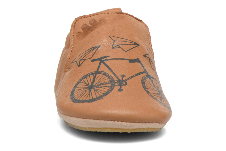 Hausschuhe Easy Peasy Blublu Vélo braun schuhe getragen