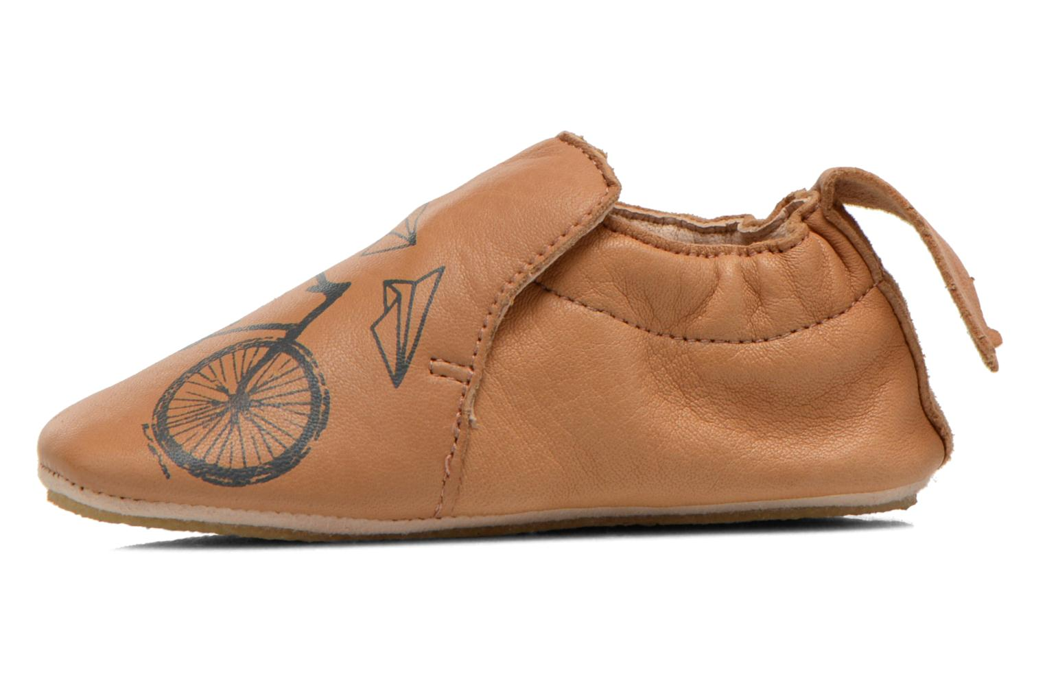 Slippers Easy Peasy Blublu Vélo Brown front view