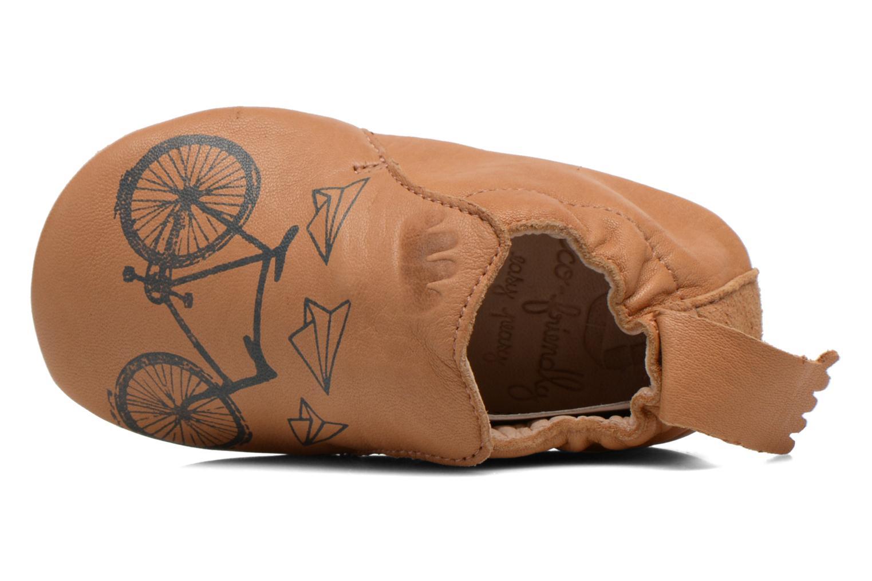 Pantuflas Easy Peasy Blublu Vélo Marrón vista lateral izquierda