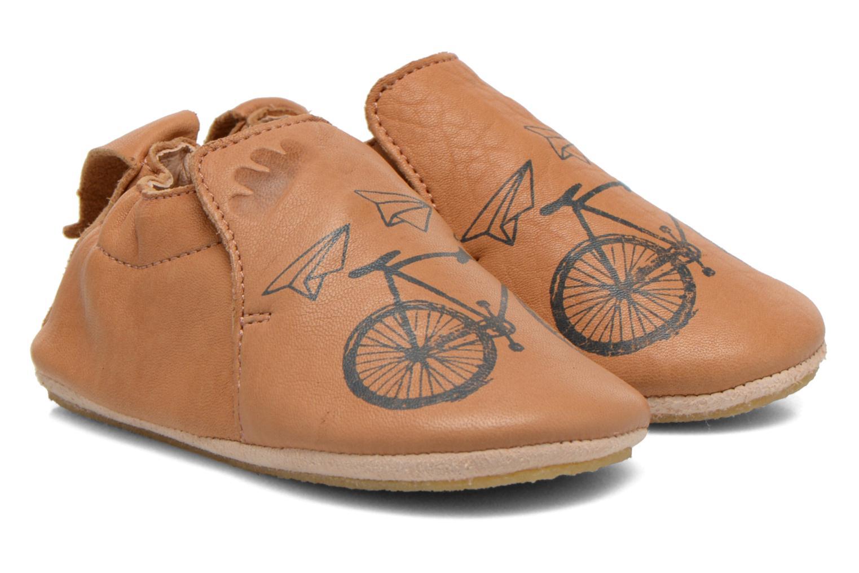Hausschuhe Easy Peasy Blublu Vélo braun detaillierte ansicht/modell
