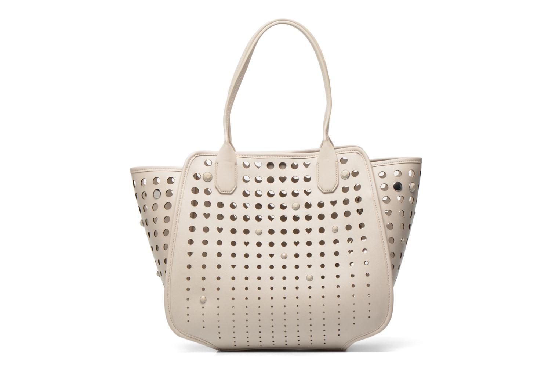 Handtaschen Love Moschino Cut out Cabas beige ansicht von vorne