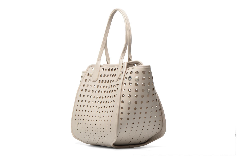 Handtaschen Love Moschino Cut out Cabas beige ansicht von rechts