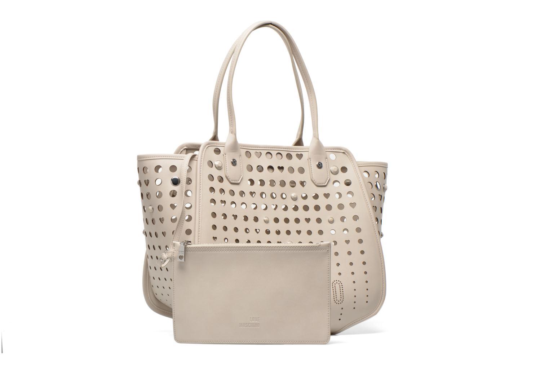 Handtaschen Love Moschino Cut out Cabas beige ansicht von links