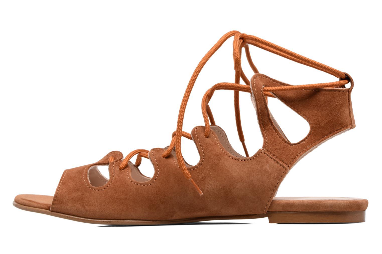 Sandales et nu-pieds Georgia Rose Gilize Marron vue face