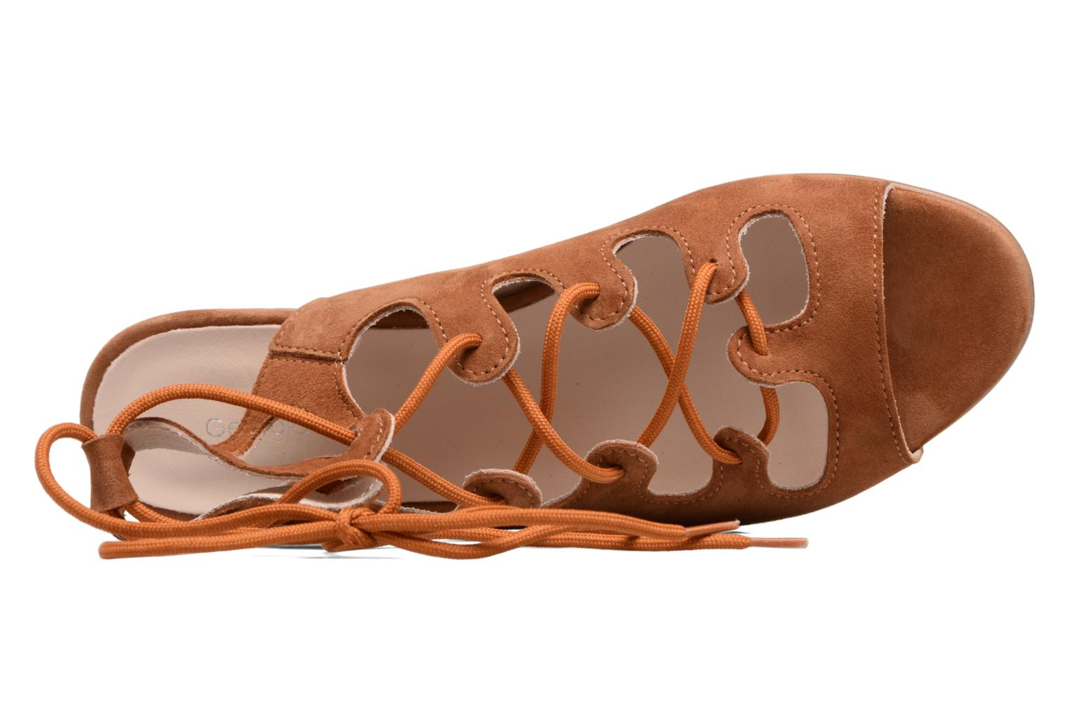 Sandals Georgia Rose Gilize Brown view from the left