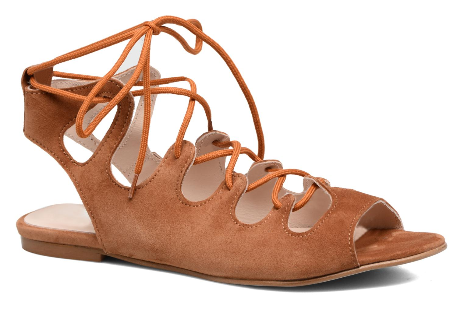 Sandals Georgia Rose Gilize Brown detailed view/ Pair view