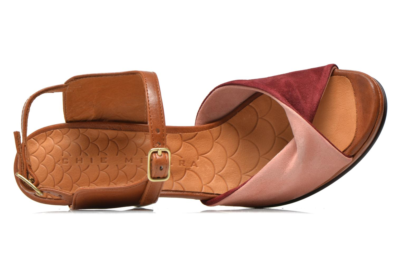 Sandals Chie Mihara Fira Pink view from the left