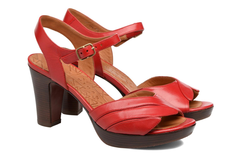 Sandalias Chie Mihara Jantra Rojo vista 3/4