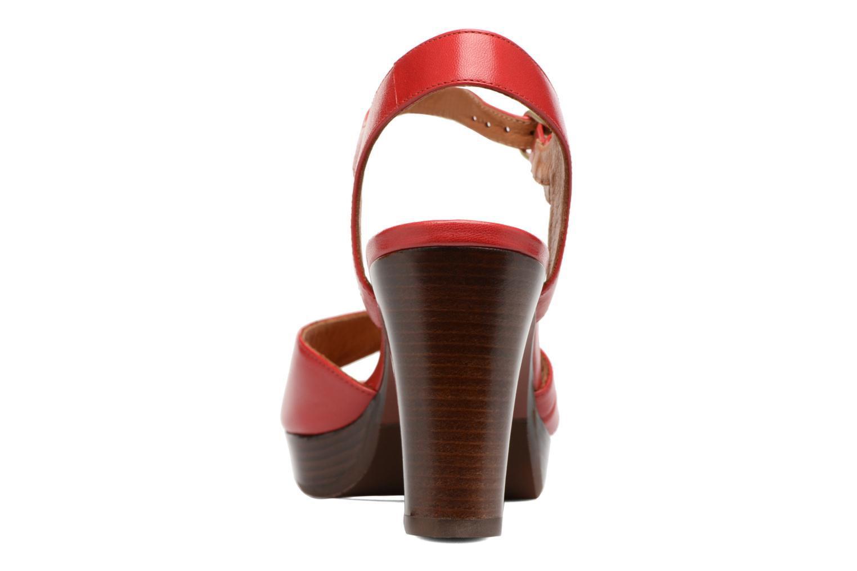 Sandalias Chie Mihara Jantra Rojo vista lateral derecha