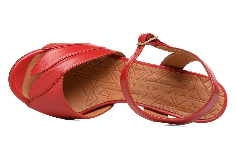 Sandalias Chie Mihara Jantra Rojo vista lateral izquierda
