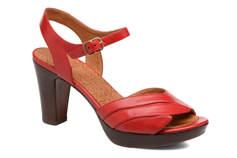 Sandalias Chie Mihara Jantra Rojo vista de detalle / par