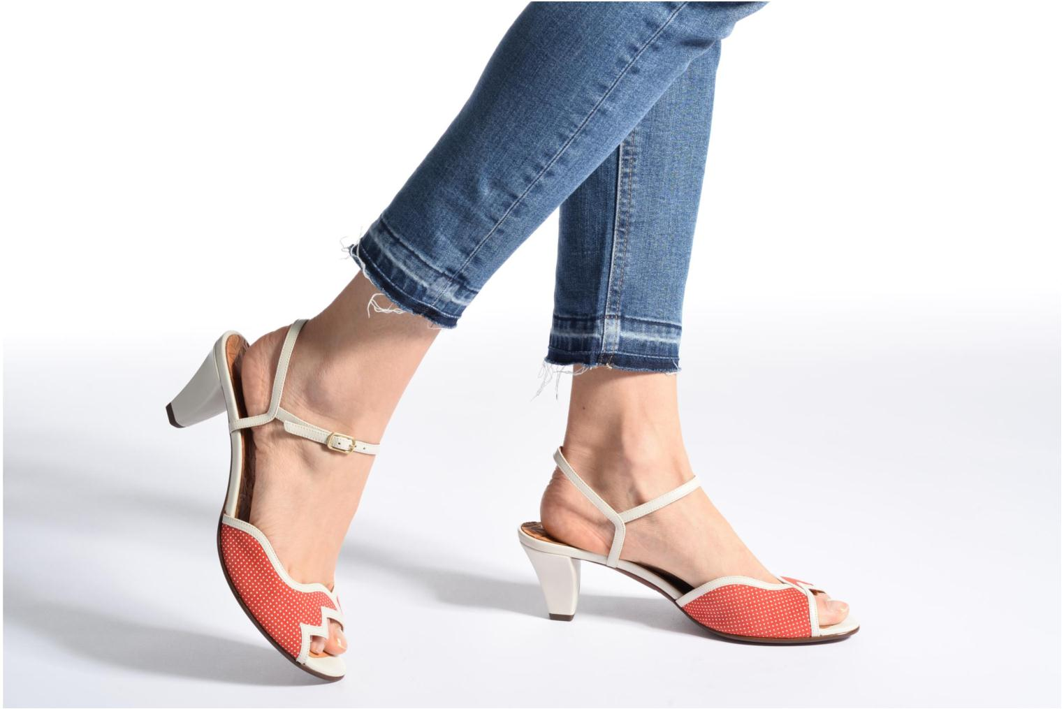Sandals Chie Mihara Waya Red view from underneath / model view
