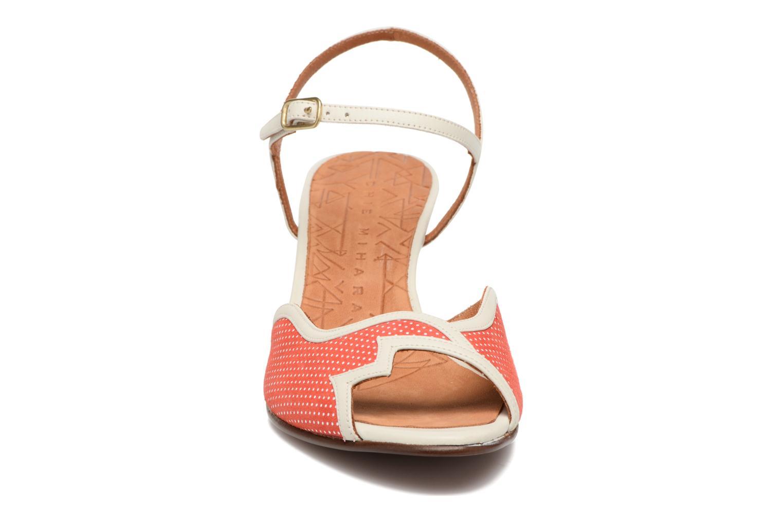 Sandalen Chie Mihara Waya rot ansicht von vorne