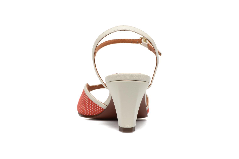 Sandalen Chie Mihara Waya rot ansicht von hinten