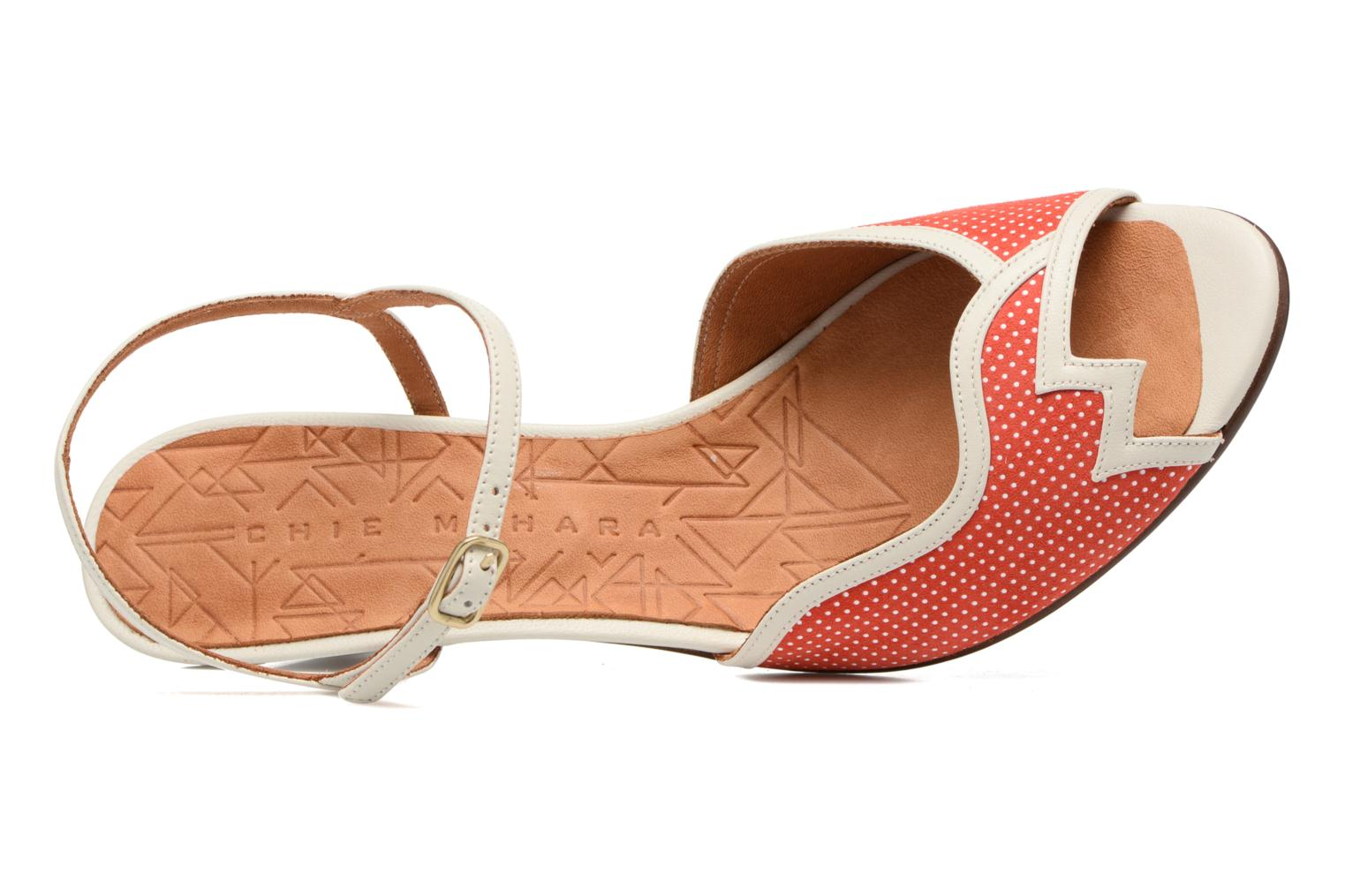 Sandals Chie Mihara Waya Red view from above