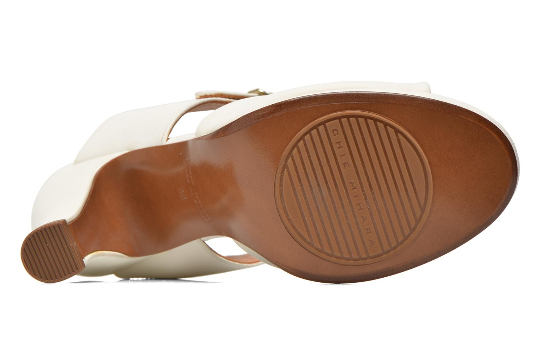 Sandales et nu-pieds Chie Mihara Bri Fira Blanc vue haut