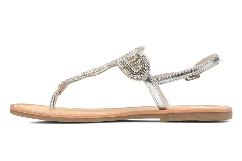 Sandalen Gioseppo Ami silber ansicht von vorne