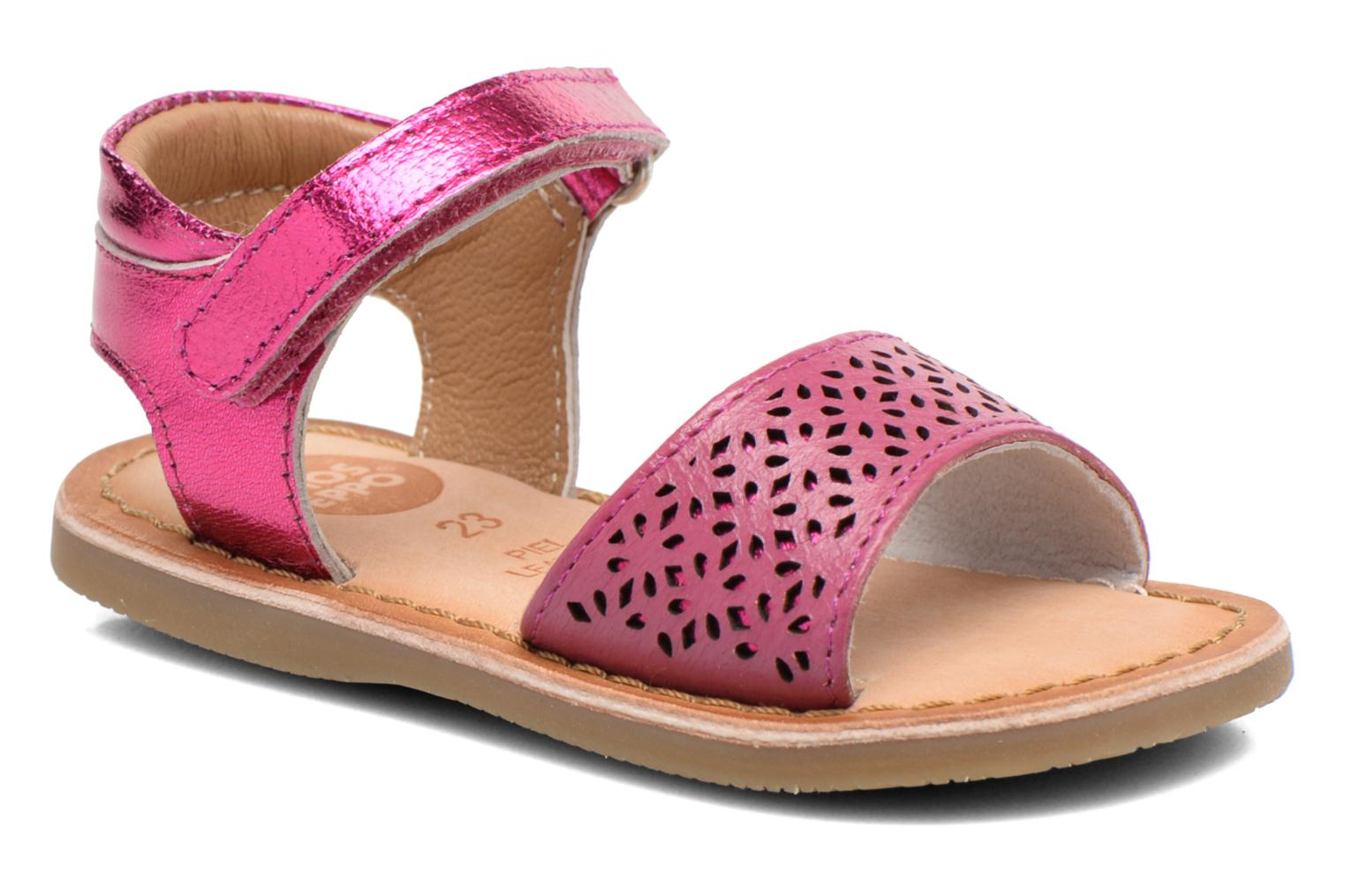 Sandals Gioseppo Carla Pink detailed view/ Pair view