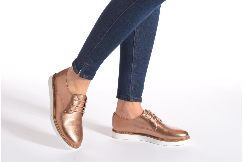 Chaussures à lacets Ippon Vintage James metal Or et bronze vue bas / vue portée sac