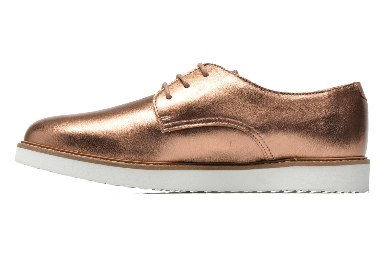 Chaussures à lacets Ippon Vintage James metal Or et bronze vue face