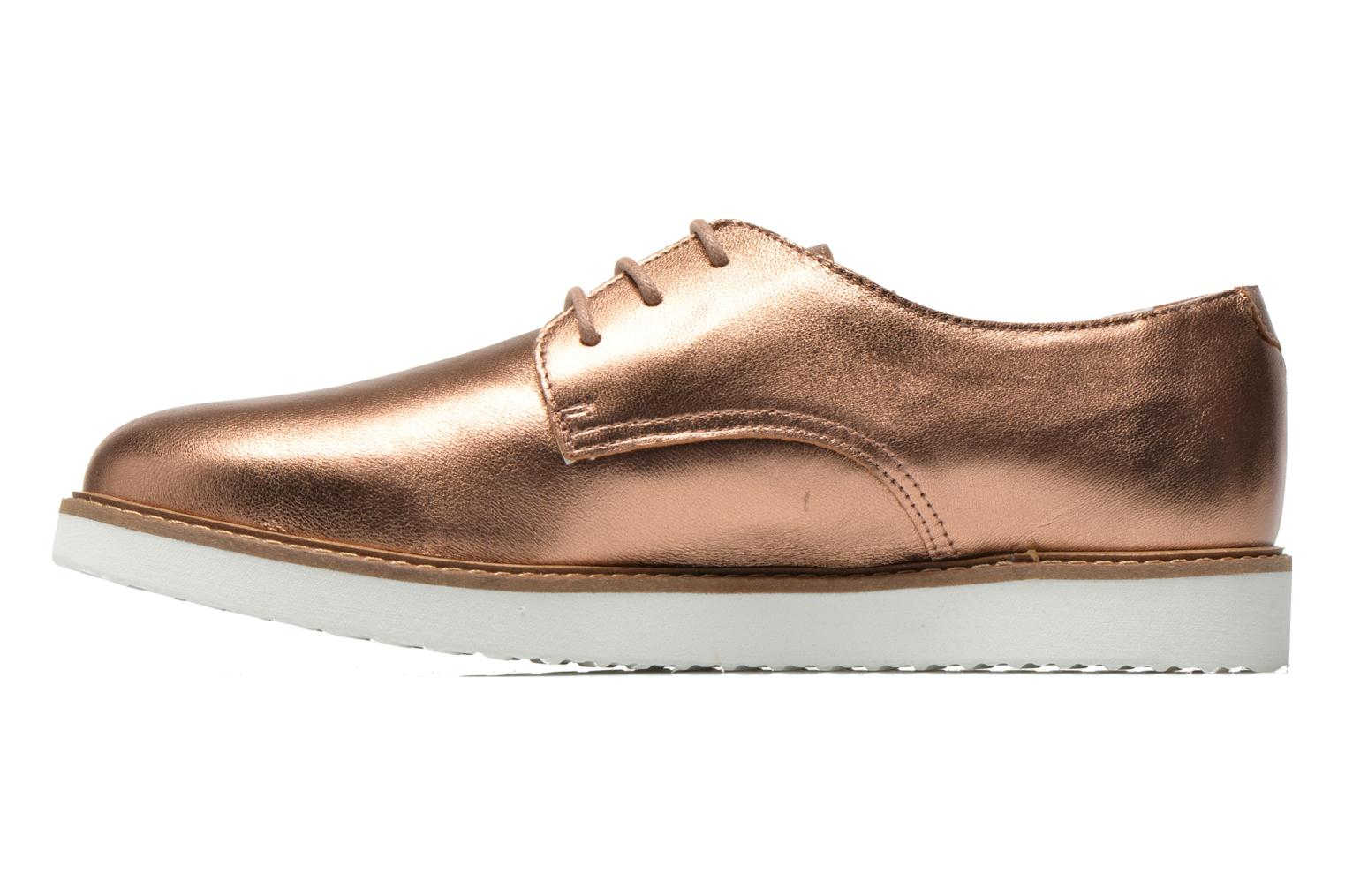 Lace-up shoes Ippon Vintage James metal Bronze and Gold front view