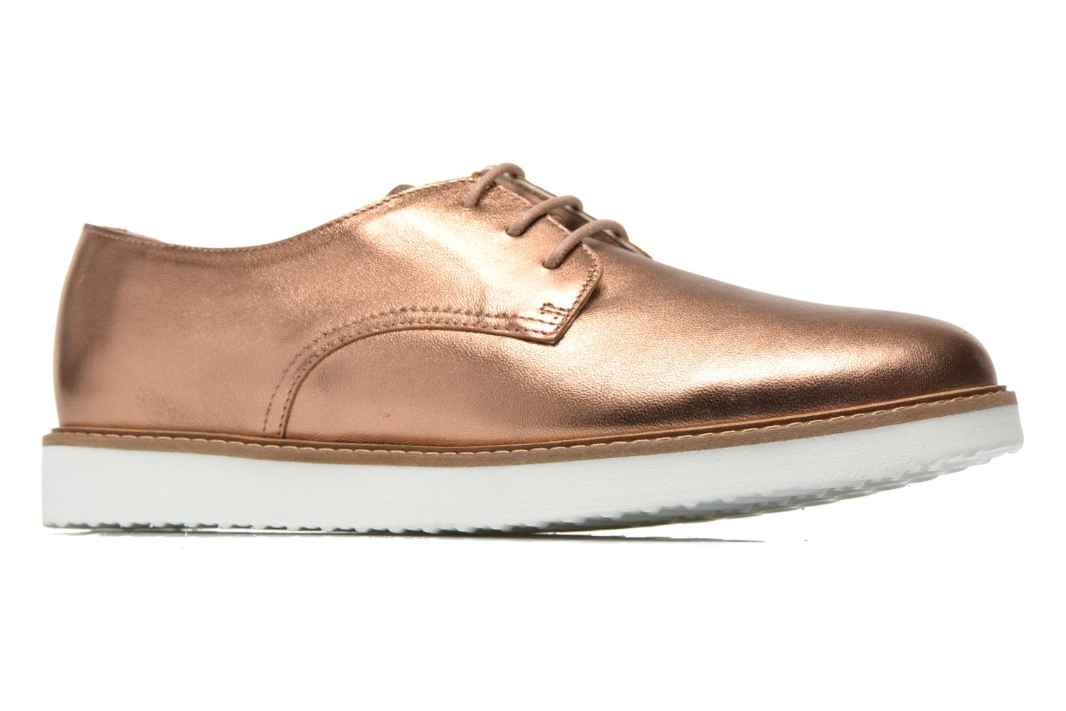 Lace-up shoes Ippon Vintage James metal Bronze and Gold back view