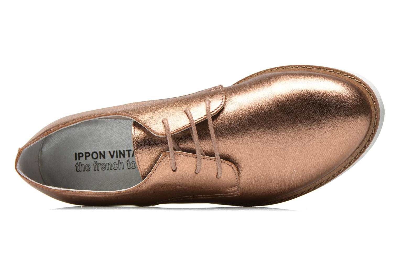 Lace-up shoes Ippon Vintage James metal Bronze and Gold view from the left