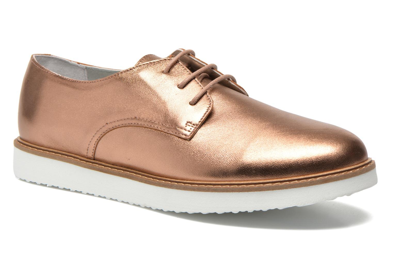 Chaussures à lacets Ippon Vintage James metal Or et bronze vue détail/paire