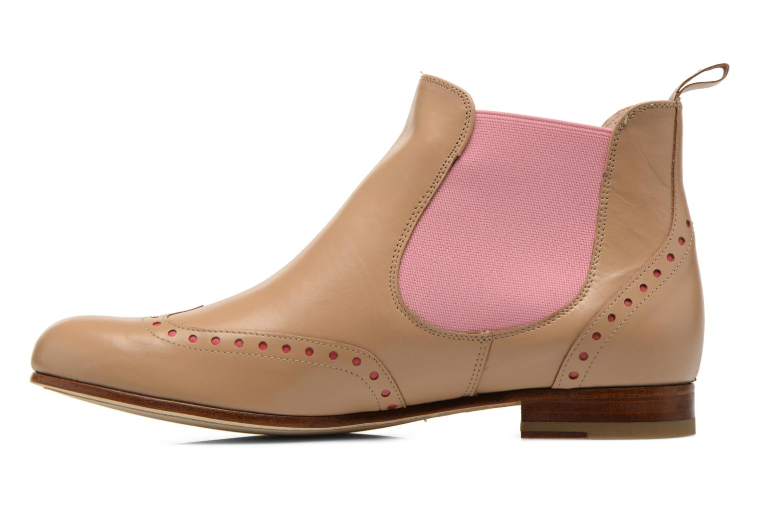 Ankle boots Georgia Rose Perla Beige front view