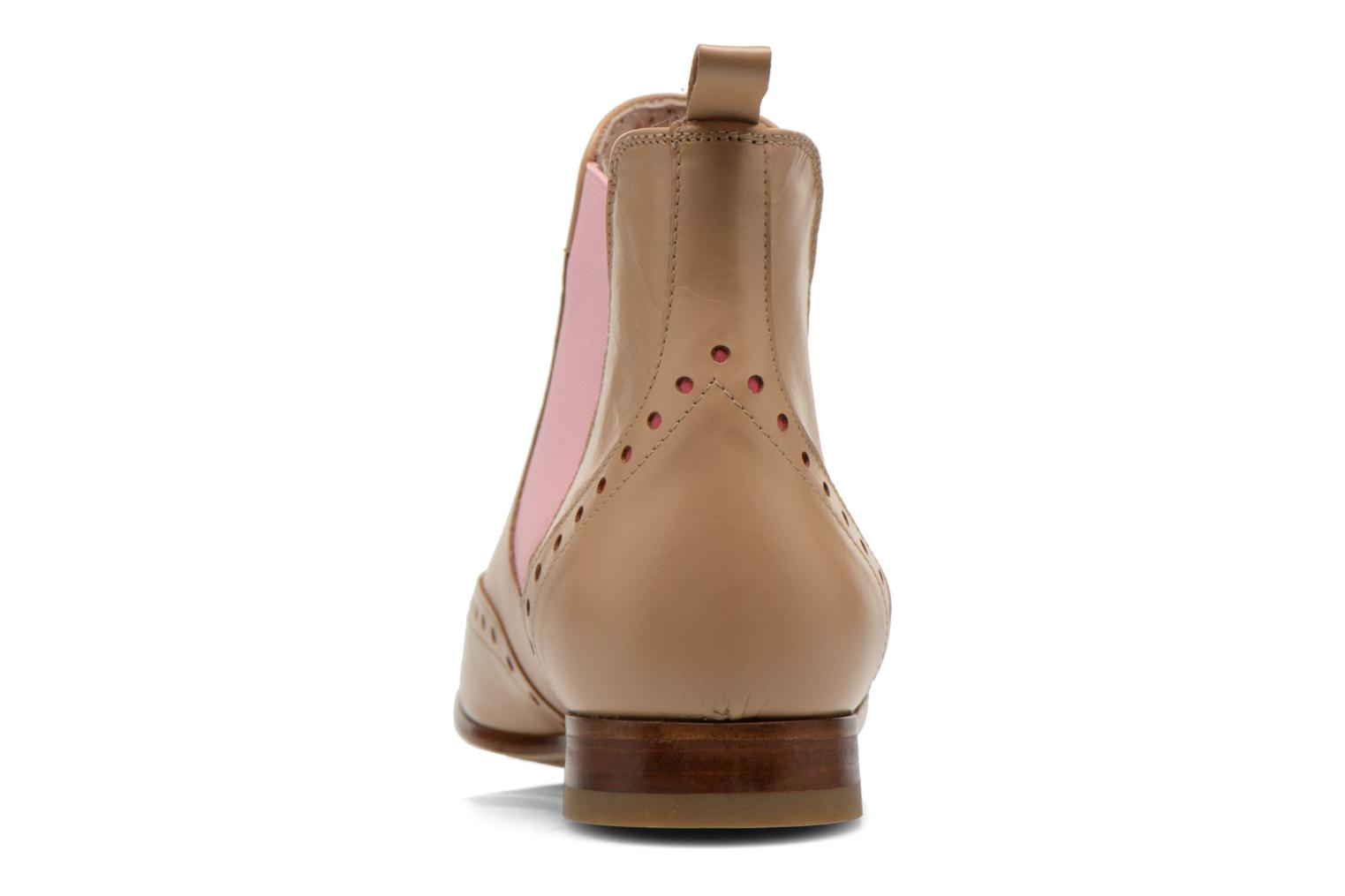 Ankle boots Georgia Rose Perla Beige view from the right