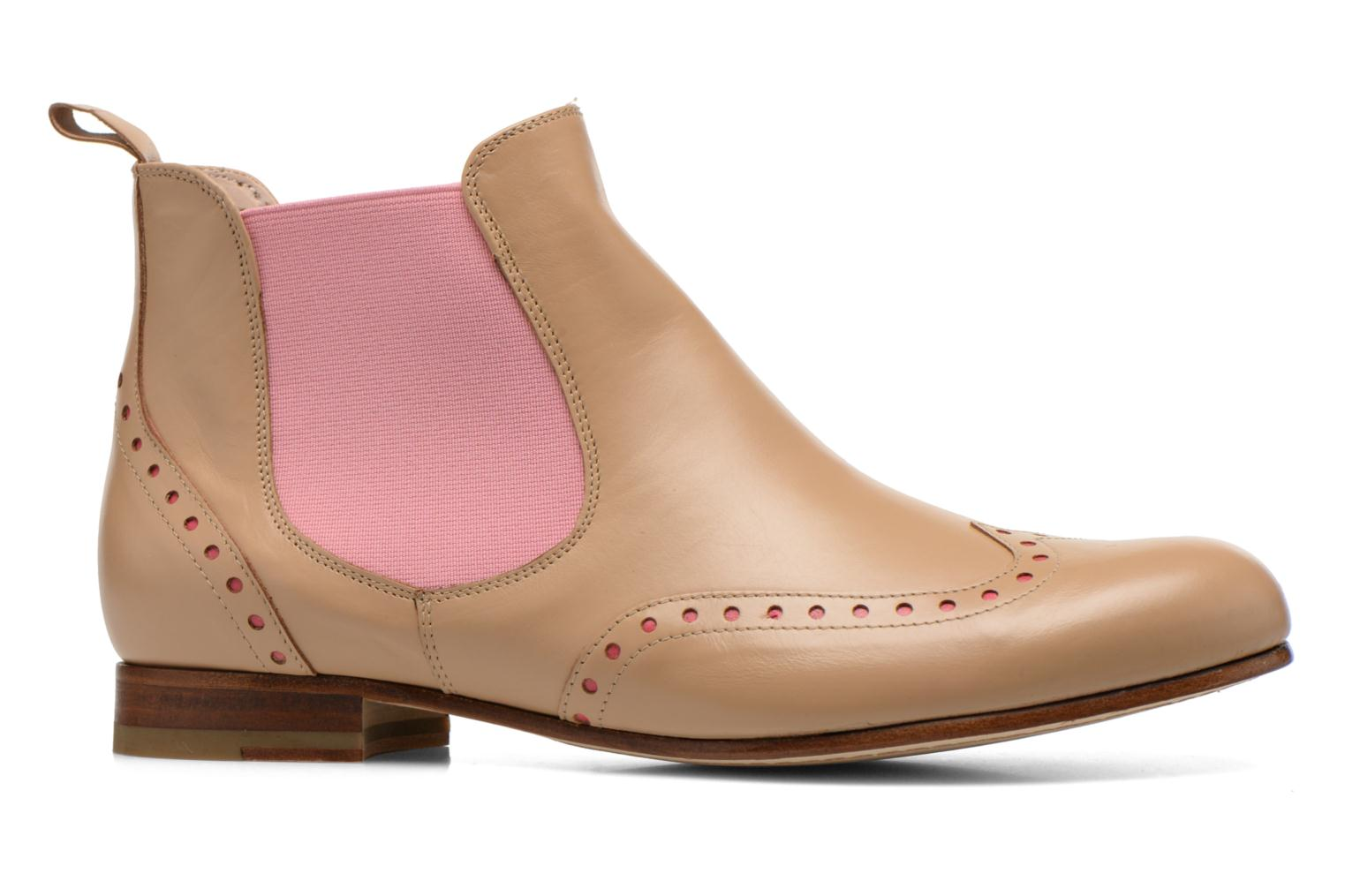Ankle boots Georgia Rose Perla Beige back view