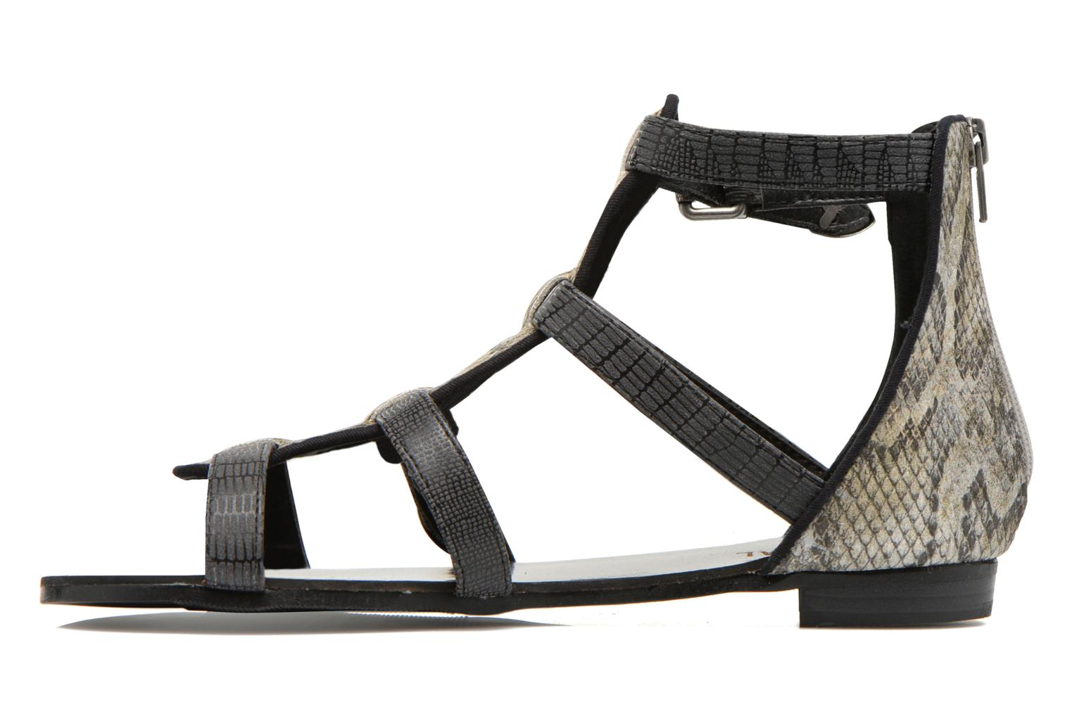 Sandals Kaporal Plitz Black front view