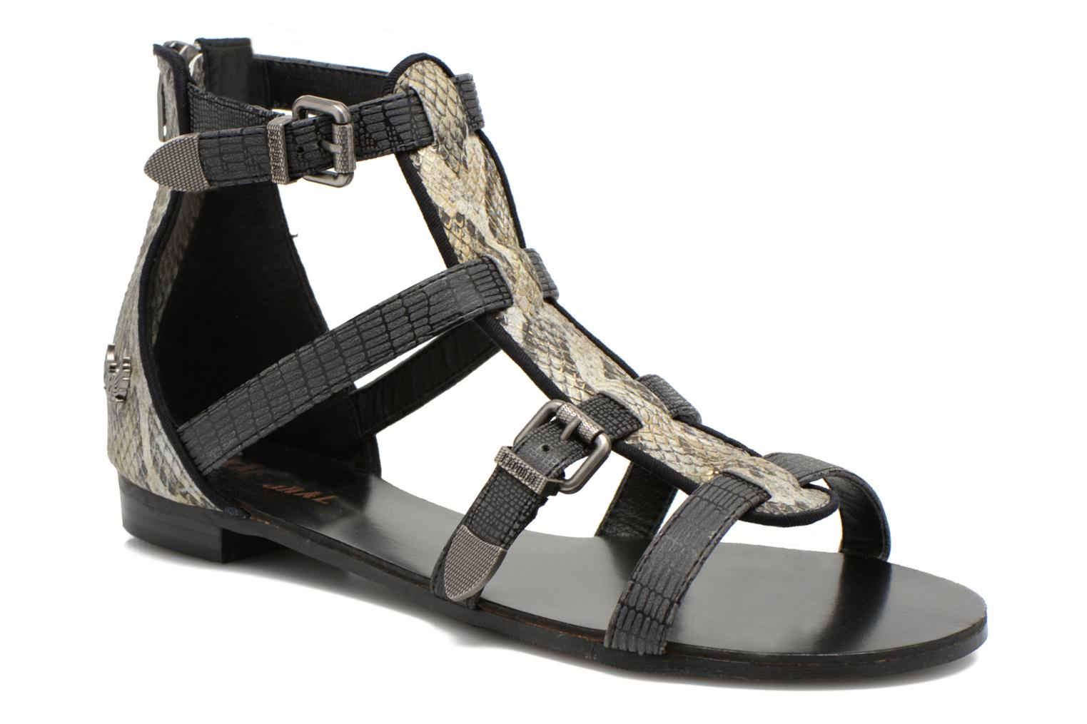Sandals Kaporal Plitz Black detailed view/ Pair view