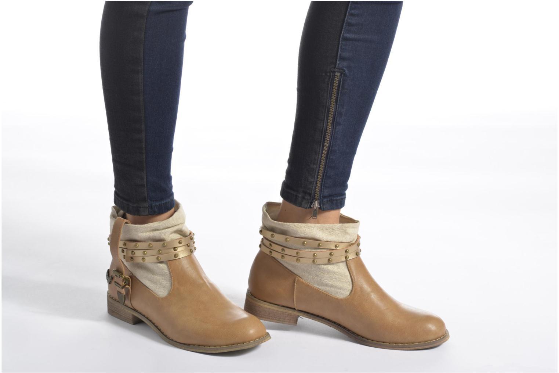 Bottines et boots Kaporal Bilow Beige vue bas / vue portée sac