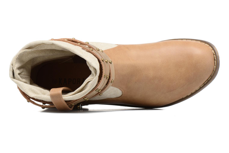 Stiefeletten & Boots Kaporal Bilow beige ansicht von links
