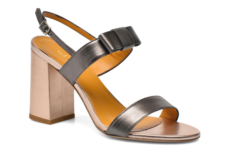 Sandales et nu-pieds Atelier Mercadal Chili Gris vue détail/paire