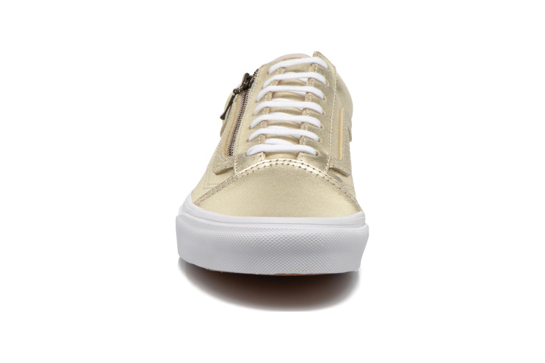 Baskets Vans Old Skool Zip Or et bronze vue portées chaussures