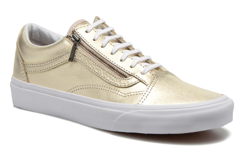 Baskets Vans Old Skool Zip Or et bronze vue détail/paire