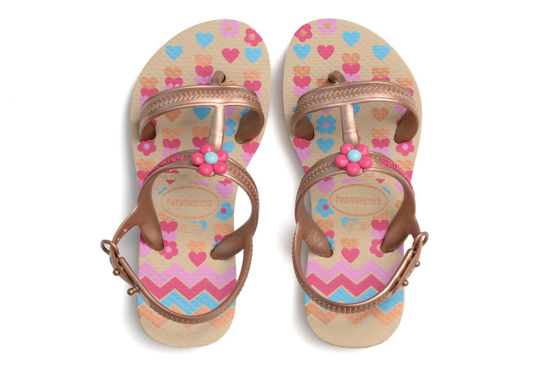 Sandales et nu-pieds Havaianas Kids Joy Spring Or et bronze vue 3/4