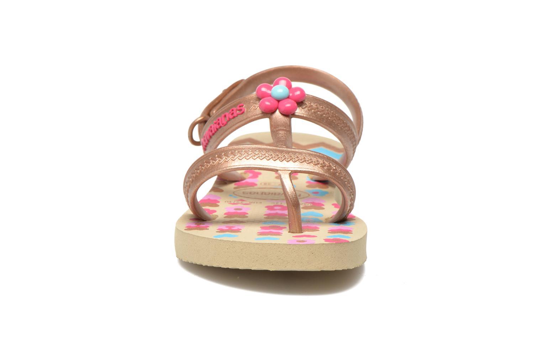 Sandales et nu-pieds Havaianas Kids Joy Spring Or et bronze vue portées chaussures