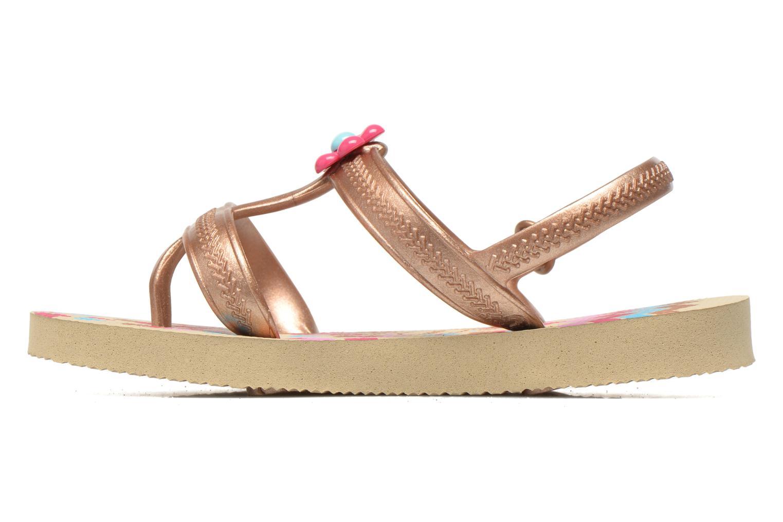 Sandales et nu-pieds Havaianas Kids Joy Spring Or et bronze vue face