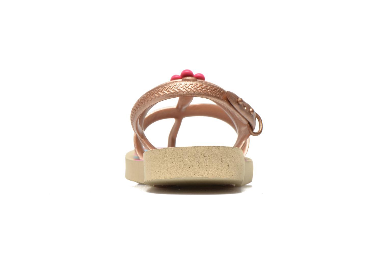 Sandales et nu-pieds Havaianas Kids Joy Spring Or et bronze vue droite