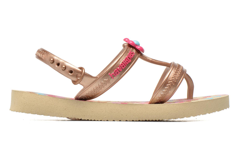 Sandales et nu-pieds Havaianas Kids Joy Spring Or et bronze vue derrière