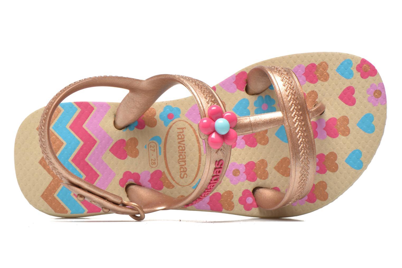 Sandales et nu-pieds Havaianas Kids Joy Spring Or et bronze vue gauche