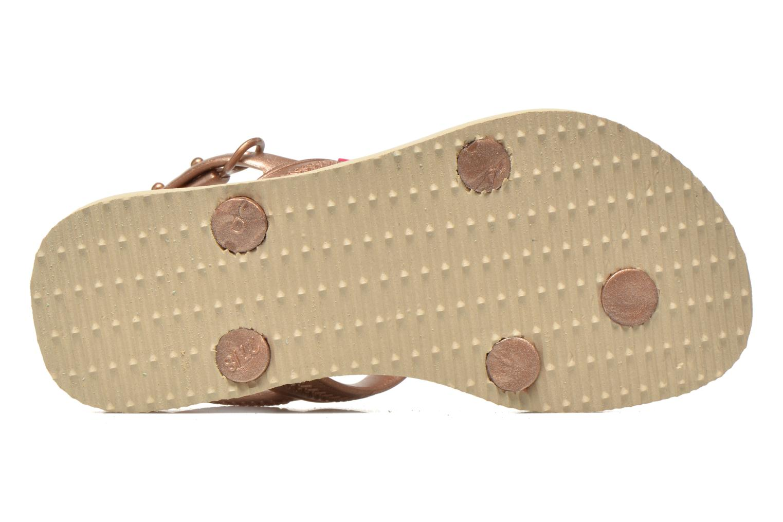 Sandales et nu-pieds Havaianas Kids Joy Spring Or et bronze vue haut
